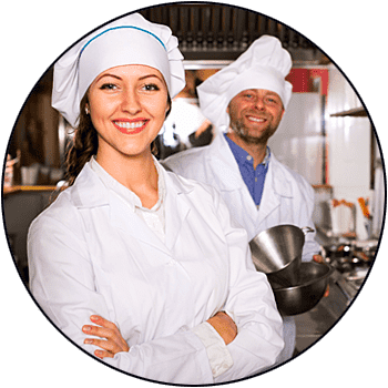 picture of smiling male and female chefs getting ready to rent commercial or restaurant kitchen equipment from seattle refrigeration rentals